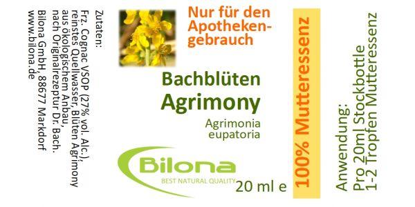 Agrimony Bachblüten-MUTTERESSENZ, 20 ml