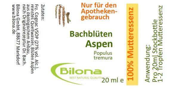 Aspen Bachblüten-MUTTERESSENZ, 20 ml