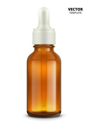 20 ml Braunglasflasche mit Pipettenkopf weiß/weiß